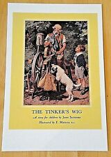 LADYBIRD BOOK COVER POSTCARD ~ THE TINKER'S WIG BY JOHN SAUNDERS 1947 ~ NEW