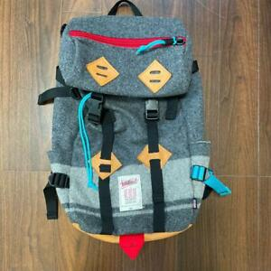 Woolrich Topo Designs collaboration Backpack Open pocket gray Rare Used