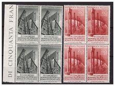 ITALIA 1955  -  PETROLIO  SERIE  NUOVA QUARTINA  **