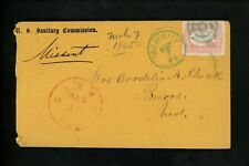 US Postal History #65 Classic 1861 Sanitary Commission Frederick MD Barre MA VT