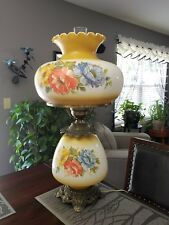 Vintage  L&L WMC Gone With The Wind Hurricane Lamp 1971