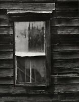 1950s Vintage ANSEL ADAMS Cabin Window Mount Bullion Ghost Town Photo Engraving