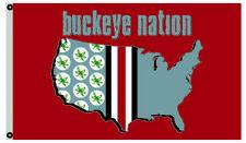 Ohio State Buckeyes Buckeye Nation flag 3X5Ft Ncaa banner Us Shipper