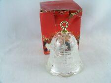 Mikasa Christmas Crystal Glass Santa Claus Bell 4 1/4 Inch SA 836/922
