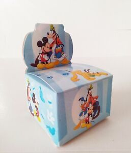 DISNEY MICKEY MOUSE & FRIENDS CARTOON BABY SHOWER FAVORS GIFT BOX KIDS BIRTHDAY
