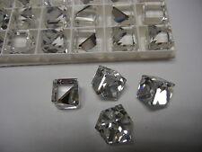 8 swarovski crystal 3/4 flatback cubes,14mm comet argent light VZ #4841 SPECIAL