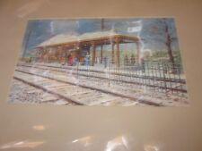 Mahwah NJ Railroad Station Winter Snow Nostalgic Art Mary & Barry Shiff Print