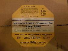 vintage ektachrome commercial type 7255 color film 400 feet