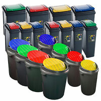 Plastic Recycle Recycling Bin Kitchen Dustbin 25L50L Garden Waste Rubbish Bins