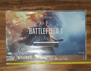 Battlefield 1 Store Display Window / Floor Cling Promo Sign 2016 EA Never Used!