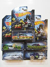 HOT WHEELS 2014 HAPPY HALLOWEEN COMPLETE SET OF 5 GHOSTBUSTERS GANGSTER PLYMOUTH