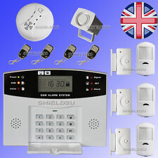 LCD Security Wireless GSM Autodial Home Office Burglar Intruder Fire Alarm SALES