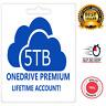 Onedrive 5TB Lifetime Account New!