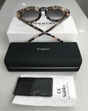 £480 GIVENCHY Paris Designer Grey Tortoiseshell Studded Sunglasses-Made In ITALY