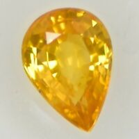 AIG Antwerp Certified*0.88 ct VS Pear Natural Vivid Yellow Sapphire,Heated Only!