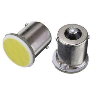 2x Ampoules R10W R5W LED COB 6000K 1156 G18.5 Veilleuses extra blanches 12V