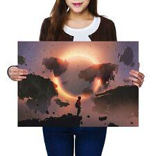 A2-Eclipse Cielo Notturno Poster Artistico MONTAGNA 59.4X42cm280gsm #14009