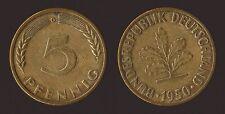 GERMANIA GERMANY 5 PFENNIG 1950 G