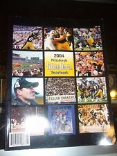2004 PITTSBURGH STEELERS SIGNED YEARBOOK ROOKIE BEN ROETHLISBERGER WARD BETTIS +