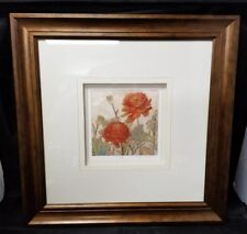 "Megan Meagher Floral Print Signed #238/950 Framed 18""X18"", 6.5""×6.5"" Limited"