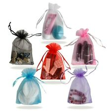 Pmland 100 Pcs Organza Drawstring Pouches for Party Gift Bag 4x6 Inch
