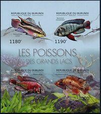 Venomous Fish, Poisonous Fish, BURUNDI 2012 MNH Imperf SS (S2n)
