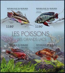 Venomous Fish, Poisonous Fish, BURUNDI 2012 MNH Imperf SS
