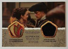2020 Outlander Season 4 DUAL Wardrobe Relic CLAIRE and JAMIE FRASER 74/150 DM09