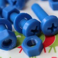 20 x Viti a Testa Arrotondata Bulloni e dadi, Blu M5 x 20mm, Acrilica