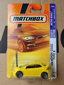Matchbox - Honda Civic Type R [YELLOW] VHTF NEAR MINT COMBINED POSTAGE