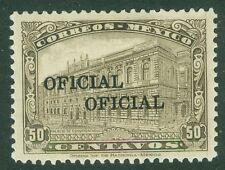 MEXICO : 1933. Scott #O208a Very Fine, Mint Original Gum H. Backstamped. Cat $60
