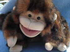 "Folkmanis~8"" MONKEY PUPPET~Brown with Long Tail"