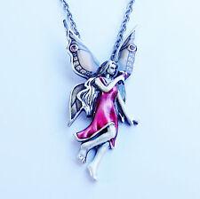 FUSCHIA FAIRY Necklace fuchia faery fushia faerie Mystica pendant