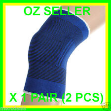 Knee Support Protection Elastic Brace Guard Injury Stabilizer Twin Pack
