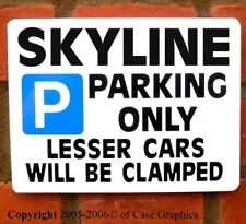Parking Sign SKYLINE Gift model r32 r33 r34 gtr manual fun Birthday/xmas gifts