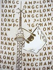ITALY LONGCHAMP SETA Silk 19x19 Women Scarf Paris Eiffel Tower Le Pilage Bag NEW
