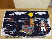 Fahnen Flagge Piratenschatz - 90 x 150 cm