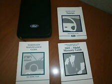 2001 01 Ford Taurus Owners Manual Set