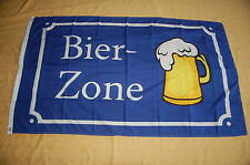 Bier Zone Bierflagge  Party Flagge Fahne Hißflagge Hissfahne 150 x 90 cm