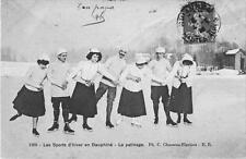 CPA 38 LES SPORTS D'HIVER EN DAUPHINE LE PATINAGE