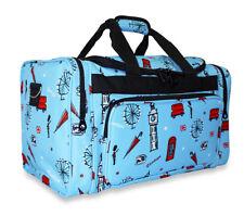 UK London Girls Kids Large Duffle Bag Duffel Carry On Luggage Gym Sports Travel