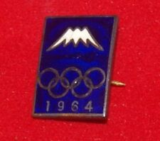 1964 Olympic Games Tokyo Original Collectible SILVER Mount Fuji Pin Badge Button