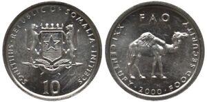 Somalia 10 shillings 2000 Camel UNC