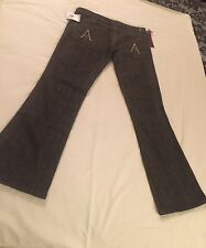 """7 For All Mankind Women's """"A"""" Pocket Flared Jean in Dark Brown Size 31-New W/tag"""