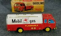 VINTAGE HAYASHI TIN LITHO FRICTION CAR MOBIL GAS TANK TANKER W/BOX JAPAN