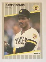 1989 Fleer Barry Bonds Card #202 NM - Pirates, Giants Star