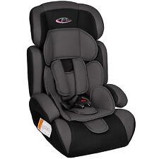 Tectake - Siège Auto Groupe I/ii/iii pour Enfants 9-36 kg 1-12 ans Noir/gris