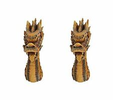 Fire Dragon Sculpture Medieval Gothic Statue Entrway Office Asian Decor Wall Art