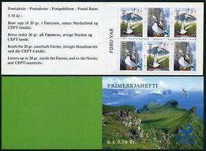 Faroe 224-225a booklet,MNH.Michel 221-222 MH.Birds 1991.Rissa Tridacttyla,Sterna