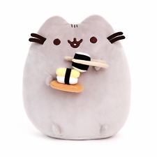 Pusheen The Cat with Sushi Gund Cute Soft Plush Animal Toy 24cm **FREE DELIVERY*